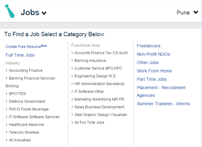 Quikr Job verticals