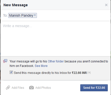 Send Messages to Strangers on Facebook in India