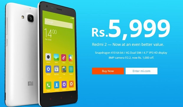 Redmi 2 Price Drop