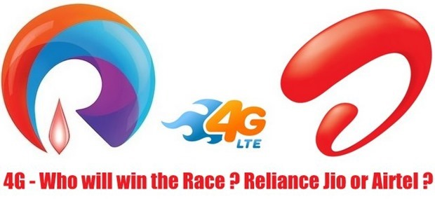 Reliance Jio Will Roll Out 4G Services By Dec; Airtel Claims They Will Launch Before Reliance