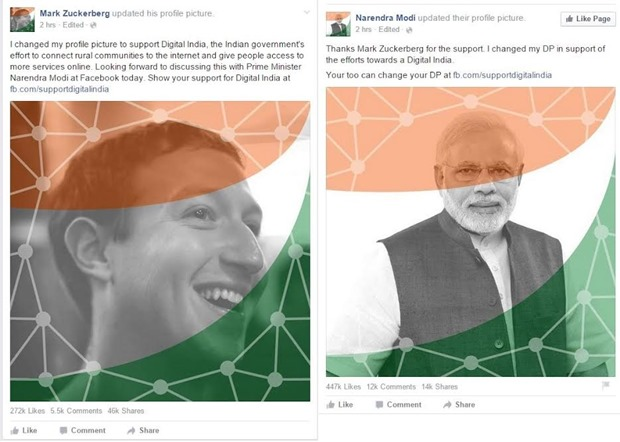Mark ZuckerBerg-Narendra Modi