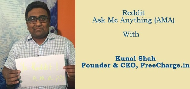 Freecharge's Founder Kunal Shah Bares It All On Reddit AMA: The Highlights