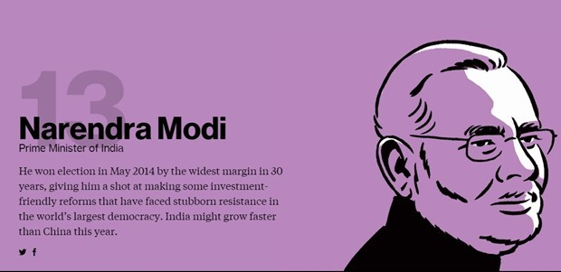 Narendra Modi Bloomberg Most influential