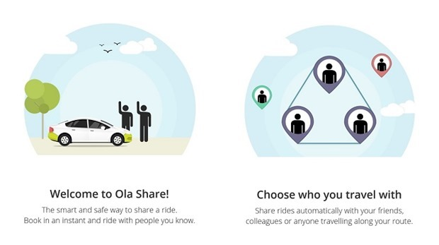 Ola Launches Social Ride Sharing Service 'Ola Share'