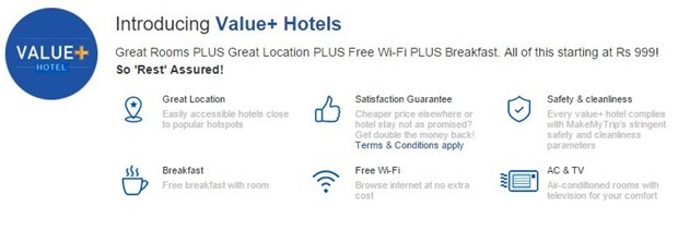 MakeMyTrip Value Plus