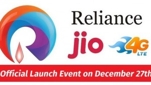 Confirmed! Reliance Jio 4G Services To Launch on December 27th!