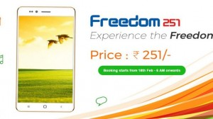 Astonishing! Freedom 251 Quadcore 1GB RAM Launched For Rs. 251 ($3.8)