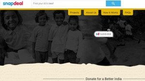 Snapdeal Sunshine, a Donation Platform for Better India