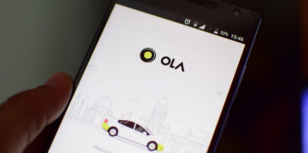 Ola Cabs Lux car rental mobile app