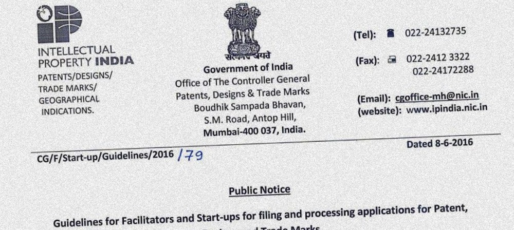 Govt Issues Patent Guidelines For Indian Startups; Facilitator Must For Filing Patents