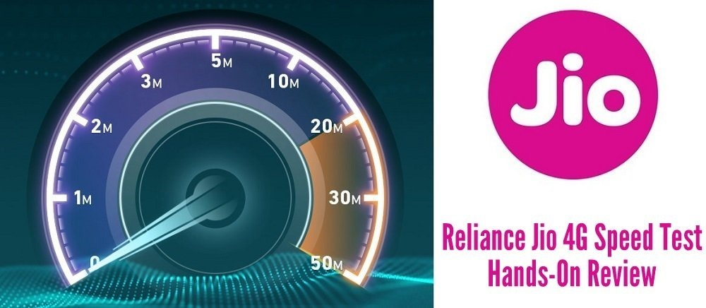 Reliance Jio 4G Mobile Data Speed Test