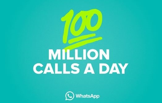 Whatsapp 100 million calls