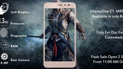ChampOne Launches 5-inch C1 4G Smartphone for Rs. 501 Sporting 2GB RAM & Fingerprint Scanner