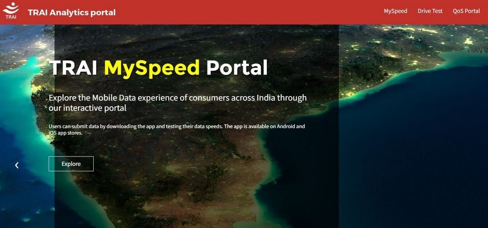TRAI Unveils MySpeed Analytics Portal That Allows Users to Assess Operator Services