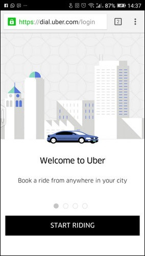 Uber Dial second