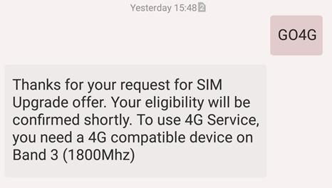 Idea Cellular 4G Sim Confirmation message-001