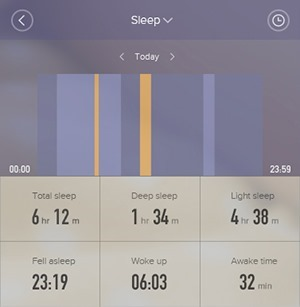 Mi Band 2 sleep tracker