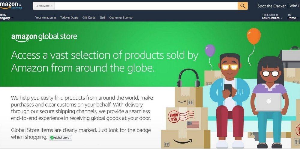 Amazon Global Store India