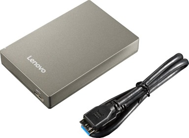 Lenovo Slim 1 TB and 2 TB External Hard Disk