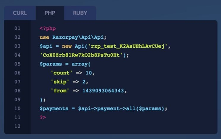 Razorpay API Integration