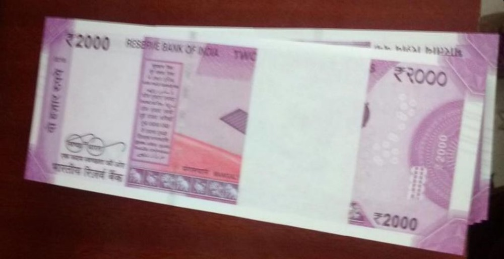 The new Rs 2000 note does not have a Nano GPS Chip