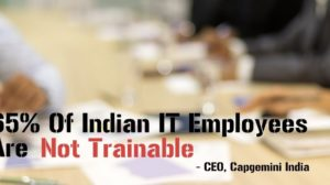 65% Of Indian IT Employees 'Not Trainable' Says Capgemini India CEO; Warns About Massive Unemployment