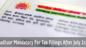 Govt To Make Aadhaar Mandatory For IT Filing After July 1st; Announces 39 More Initiatives Against Black Money Hoarders