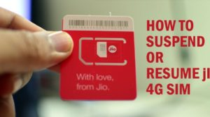 Your Can Easily Suspend / Resume Jio 4G SIM Services; Here is How To Do It!