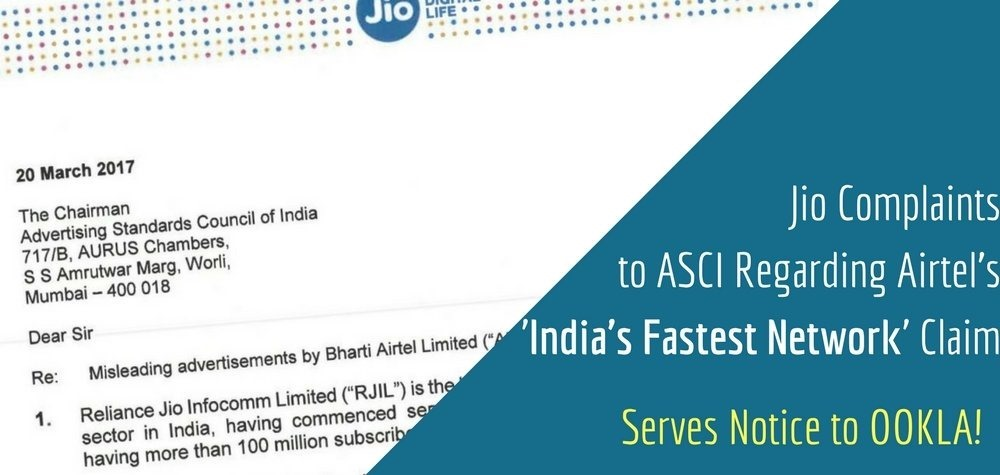 JioComplaints to ASCI