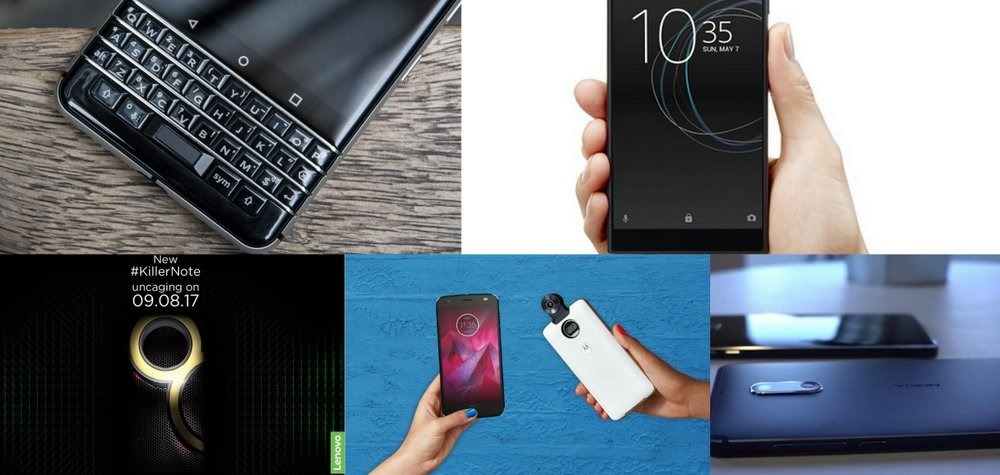 Top 7 Smartphones Launch August 2017