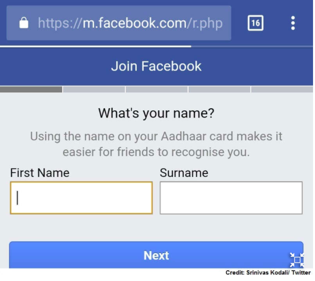 What! Facebook user names to be linked with Aadhaar too