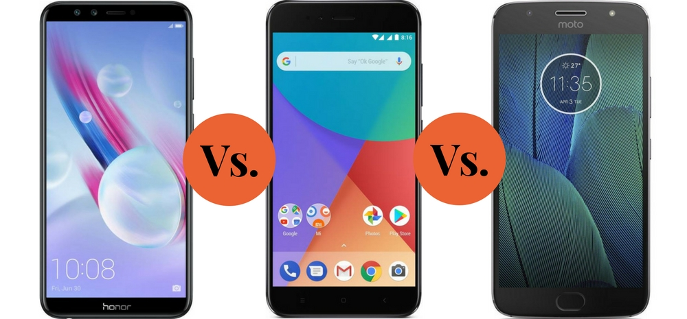 Honor 9 Lite Vs Xiaomi Mi A1 Vs Moto G5S Plus