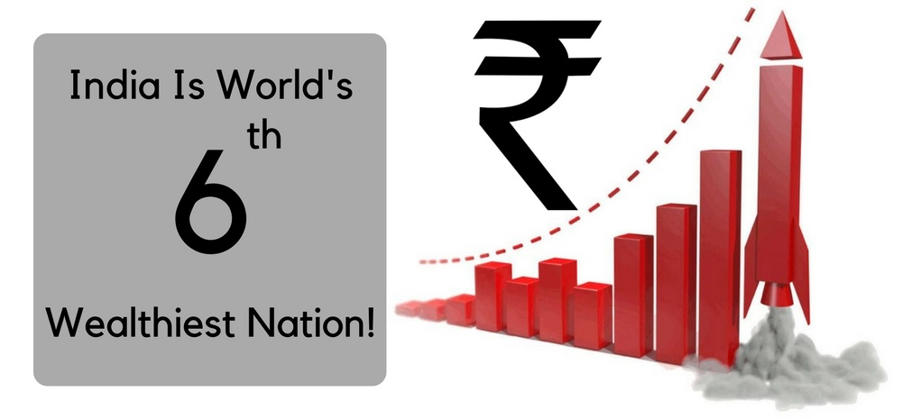 India Is World's 6th Wealthiest Nation