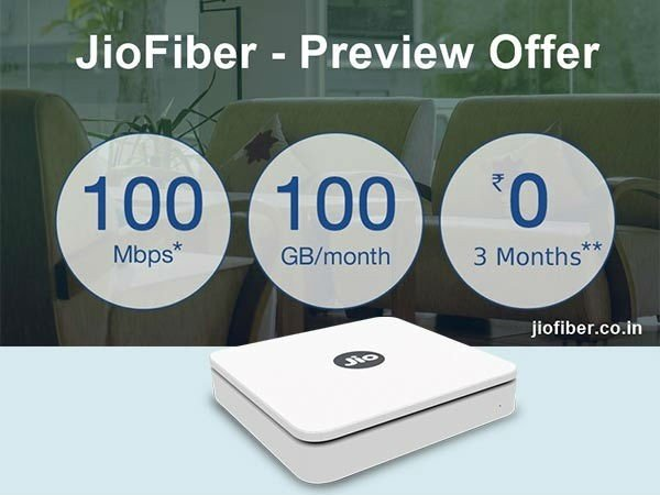 The JioFiber Preview Offer