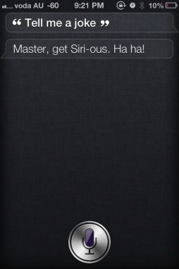 Siri Makes A Joke