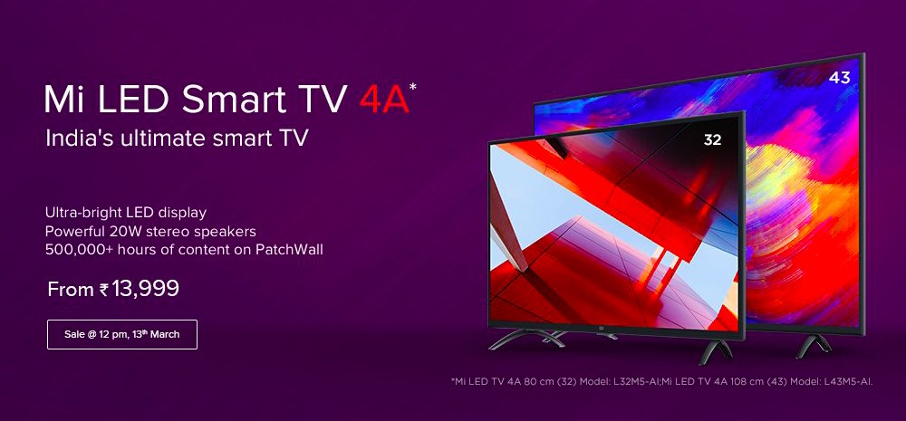 Xiaomi Mi TV 4A Launched In India