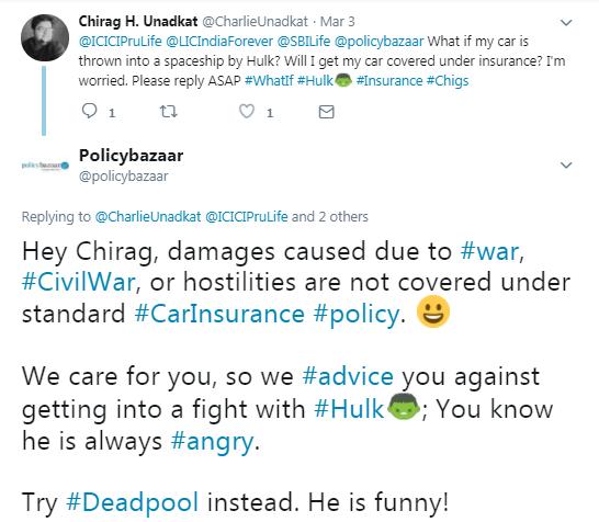 PolicyBazaar Tweet 1