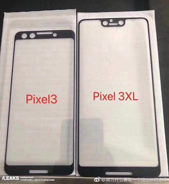 The Pixel 3 & Pixel 3 XL Front Panels