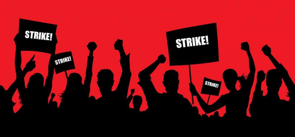 Bank Employees On A 2-Day Strike