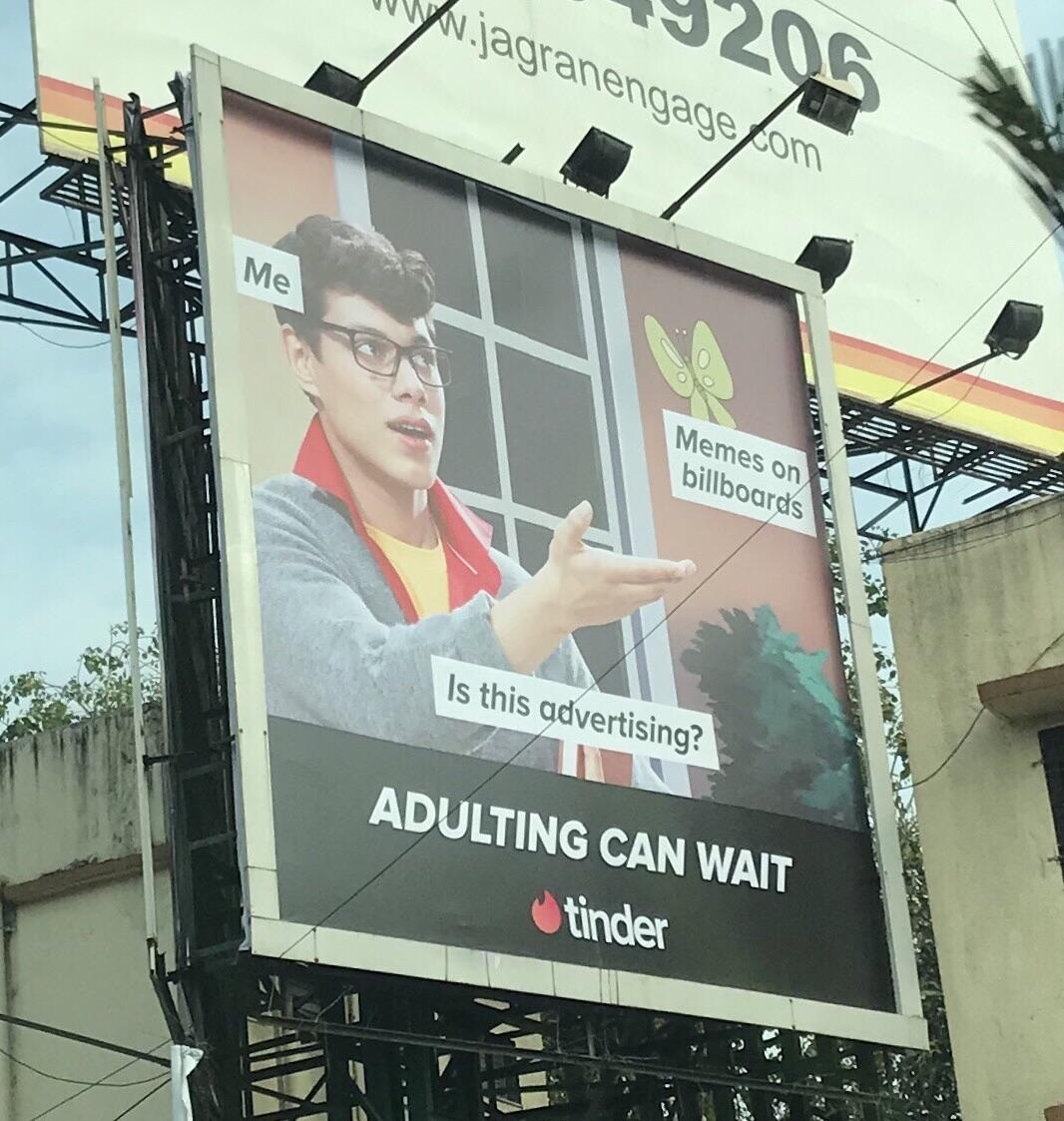 Tinder India's ad in Delhi