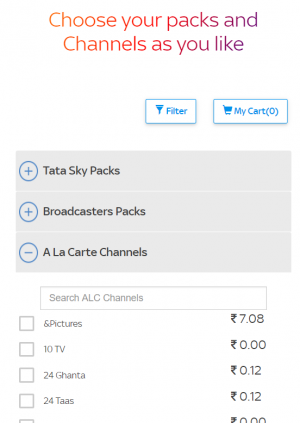 Tata Sky's new packs announced