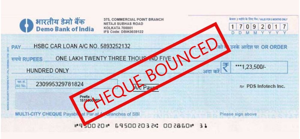 Jail term for bounced cheque