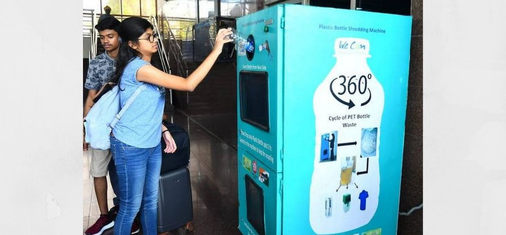 Crush Water Bottles At Railway Station And Recharge Your Prepaid Mobile For Free!