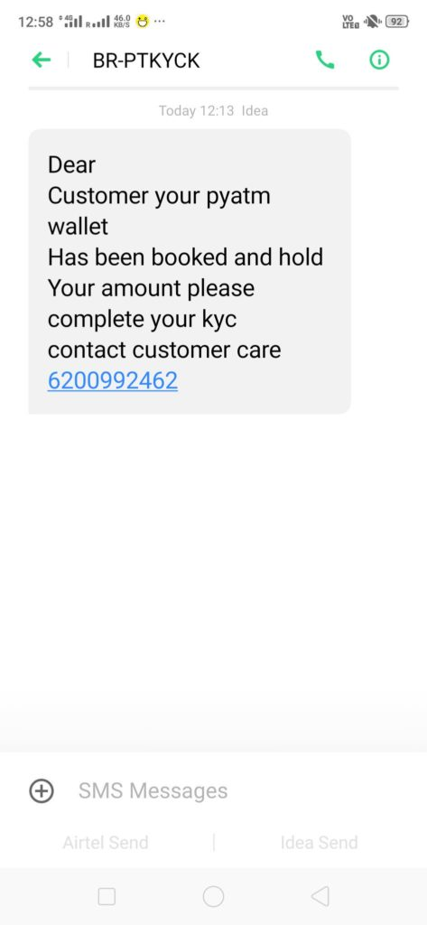 Paytm's KYC Scam Is Here: Beware Of This SMS About Paytm KYC, Warns Paytm Founder VS Sharma