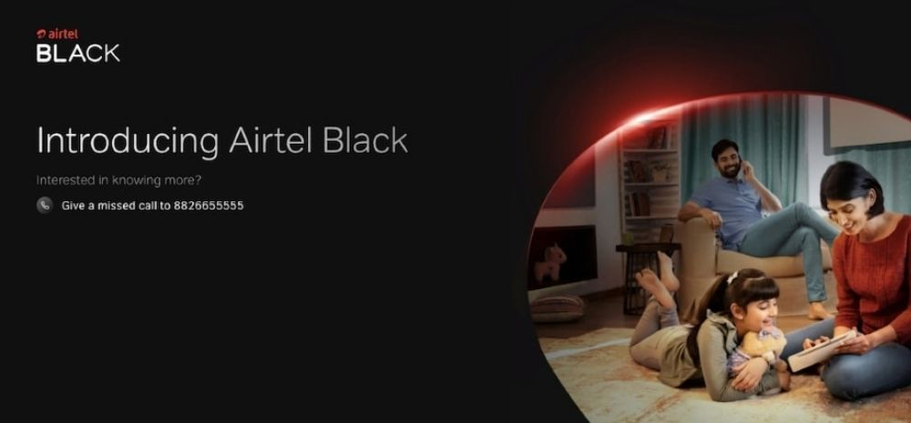 Bharti Airtel launched a new plan called the Airtel Black, which lets its subscribers combine two or more services under a single bill.